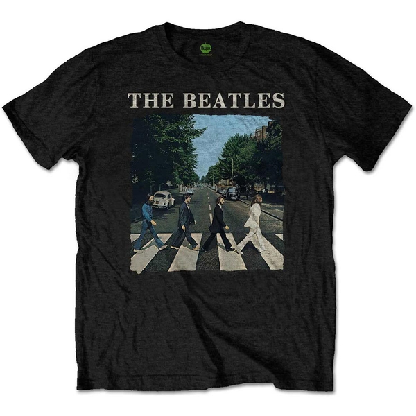 The Beatles - Abbey Road & Logo Kids 7 - 8 Years T-Shirt - Black