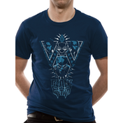 Black Panther Movie - Navy Cast Men's Small T-Shirt - Blue
