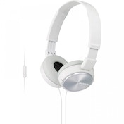 Sony MDRZX310APW Folding Stereo Headphones with Smartphone Mic & Control Metallic White