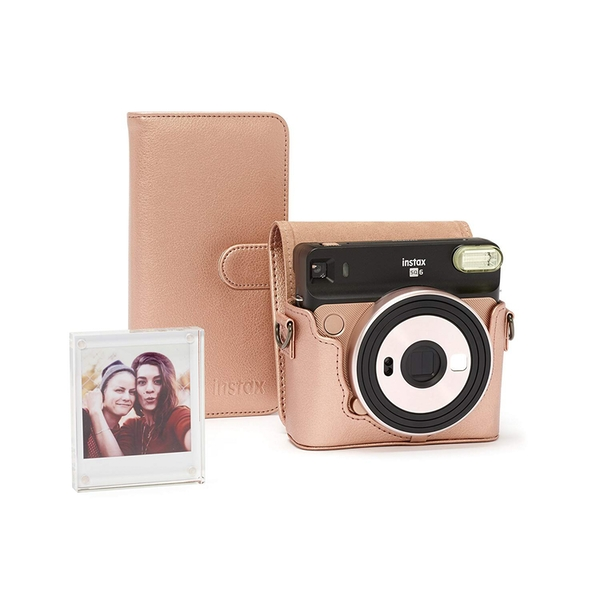 Image of Fujifilm Instax SQ6 Accessory Kit - Case, Album & Photo Frame - Blush Gold