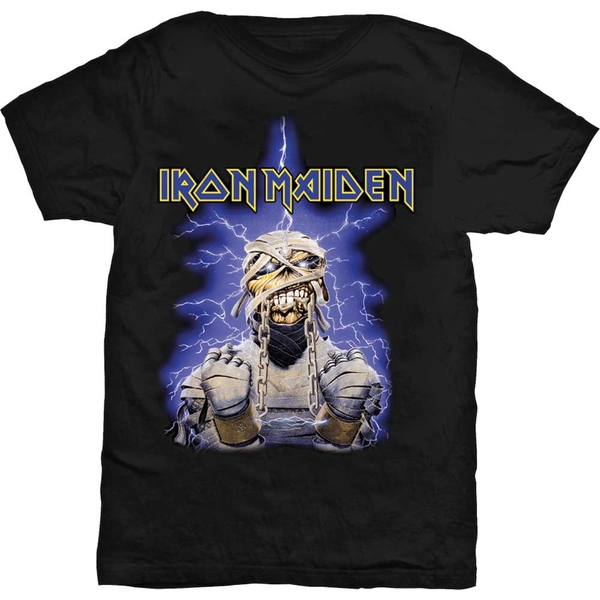 Iron Maiden - Powerslave Mummy Unisex Large T-Shirt - Black