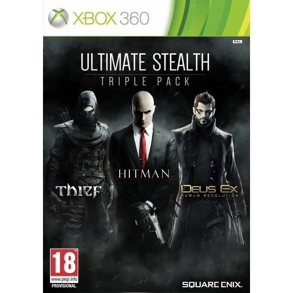 Ultimate Stealth Triple Pack (Thief/ Hitman Absolution/ Deus Ex Human Revolution) Xbox 360 Game - Image 1