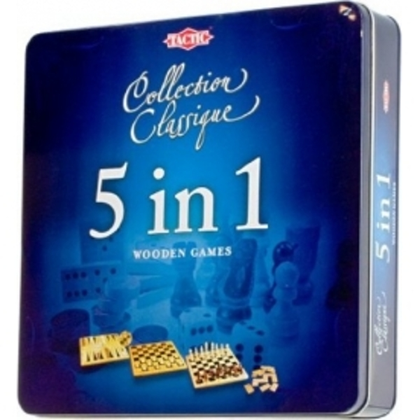 5 in 1 Wooden Games Collection