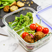 Set of 4 Glass Meal Prep Containers| M&W 2 Compartment - Image 4
