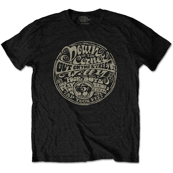 Creedence Clearwater Revival - Down On The Corner Unisex Medium T-Shirt - Black
