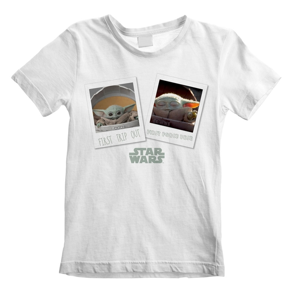 Star Wars -The Mandalorian First Day Out Kid's Unisex XL T-Shirt - White