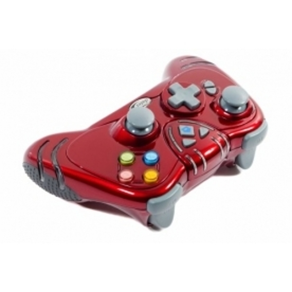Ex-Display Datel Ruby Red WILDFIRE 2 Wireless Controller Dual Rumble and Rapid Turbo Fire Xbox 360 Used - Like New - Image 2