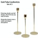 Tulip Candlesticks - Set of 3 | M&W Gold - Image 3
