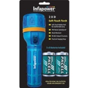 Infapower F021 2D Splashproof Soft Touch Rubber Torch Blue