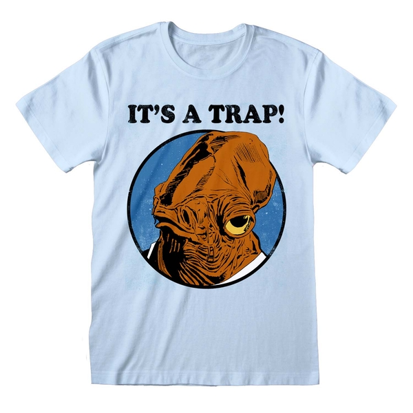 Star Wars - It Is A Trap Unisex X-Large T-Shirt - Blue