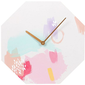 Live Colourfully Octagon Shaped Wall Clock