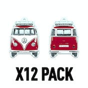 Vanilla/Red VW T1 Bus (Pack Of 12) Air Freshener