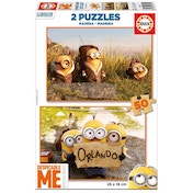Despicable Me 2 Minions Super Go Wild & Going to Orlando 50 Piece Wooden Jigsaw Puzzles