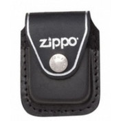 Zippo Black Lighter Pouch With Clip Leather
