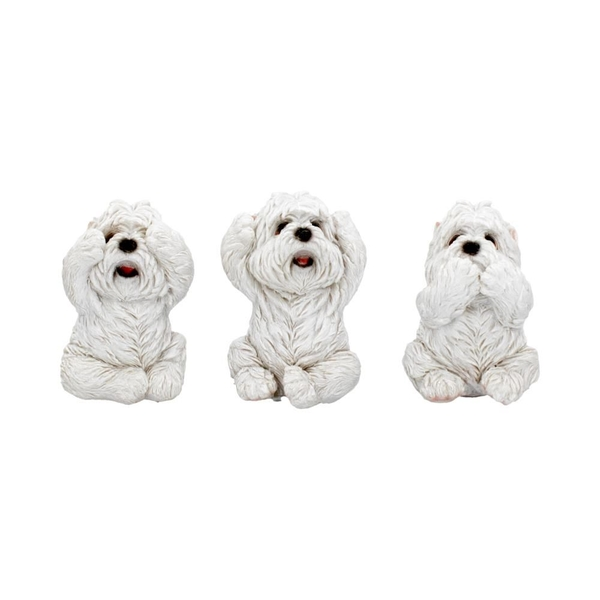 Three Wise Westies Figures