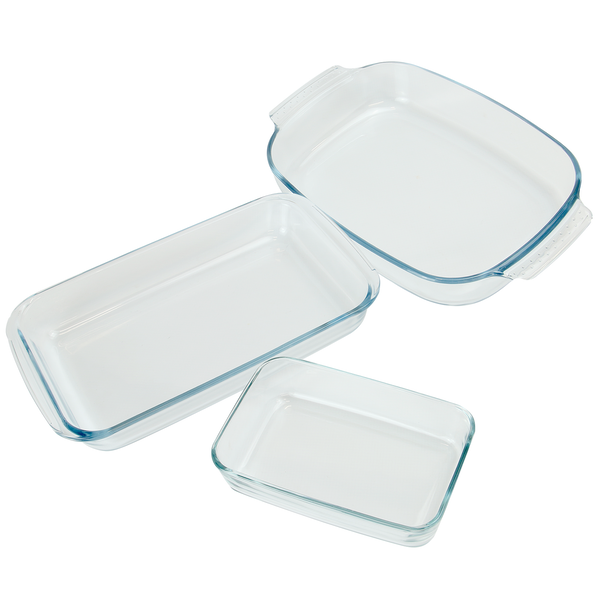 Set of 3 Glass Oven Dishes | M&W - Image 1