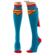 Superman - Shiny Knee High Cape Socks (One size)