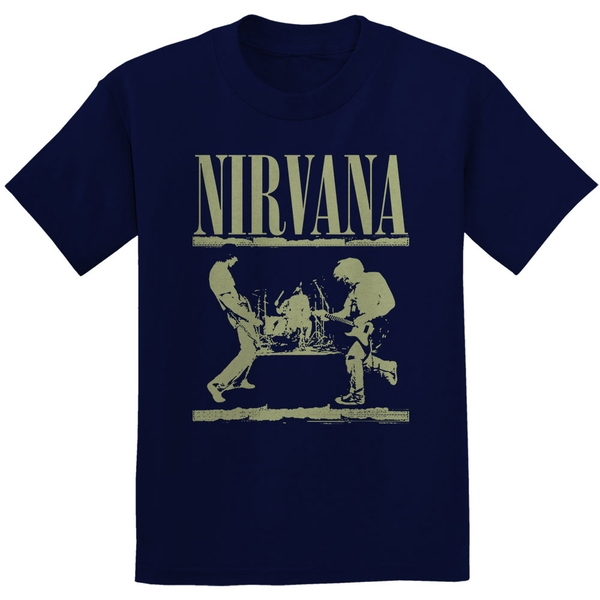 Nirvana - Stage Unisex Medium T-Shirt - Blue