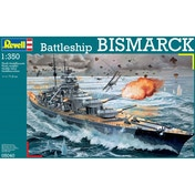 Battleship Bismarck Ship (Revell) 1:350 Scale Level 4 Model Kit