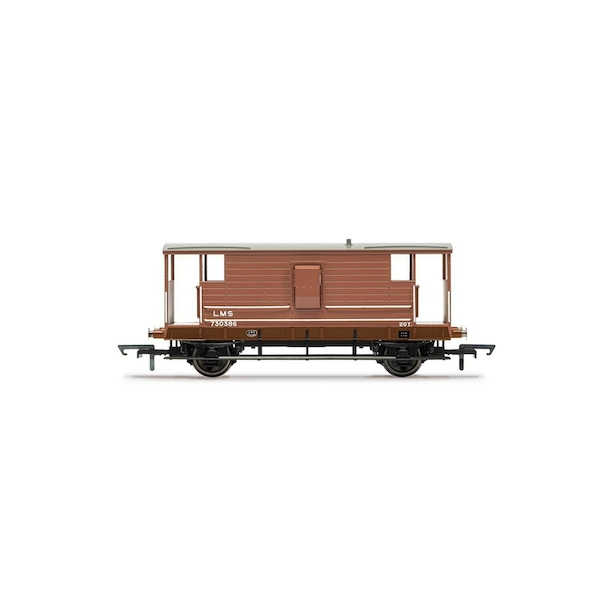 Hornby LMS, D1919 20T Brake Van, 730386 - Era 3 Model Train