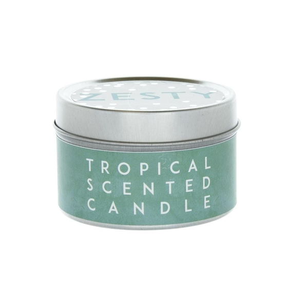 Zesty Small Tin Candle Pineapple Scent