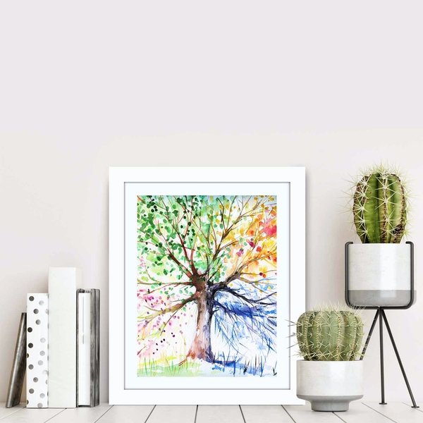 BCT-004 Multicolor Decorative Framed MDF Painting