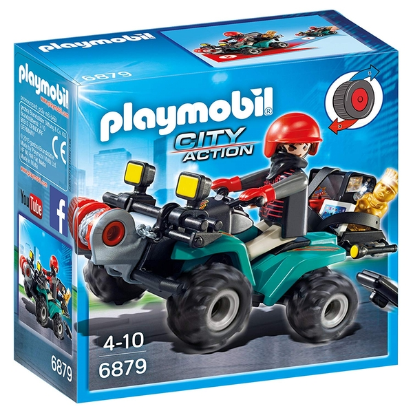 Playmobil City Action Robber's Quad with Loot with Pullback Motor