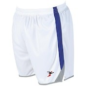 Precision Roma Shorts Junior White/Royal/Silver - S Junior 22-24""