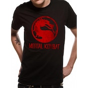 Mortal Kombat - Distressed Logo (Unisex) Black Large