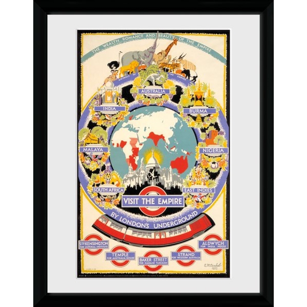 """Transport For London Visit The Empire 12 x 16"""" Framed Collector Print"""