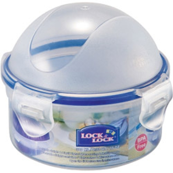 Lock & Lock Food Storage Container - Onion Dome - Round with Domed Lid 300ml (114 x 93mm)