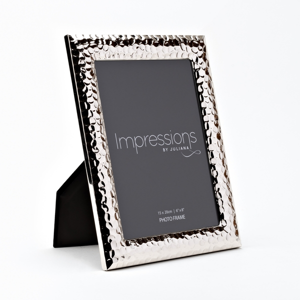 """6"""" x 8"""" IMPRESSIONS Silverplated Photo Frame"""