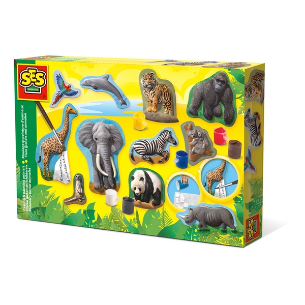 SES Creative - Children's Animals Casting and Painting Set (Multi-colour)