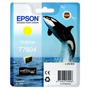 Epson C13T76044010 (T7604) Ink cartridge yellow, 2.1K pages, 26ml