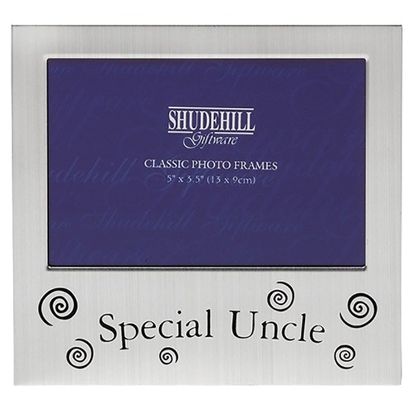 Satin Silver Occasion Frame Special Uncle 5x3