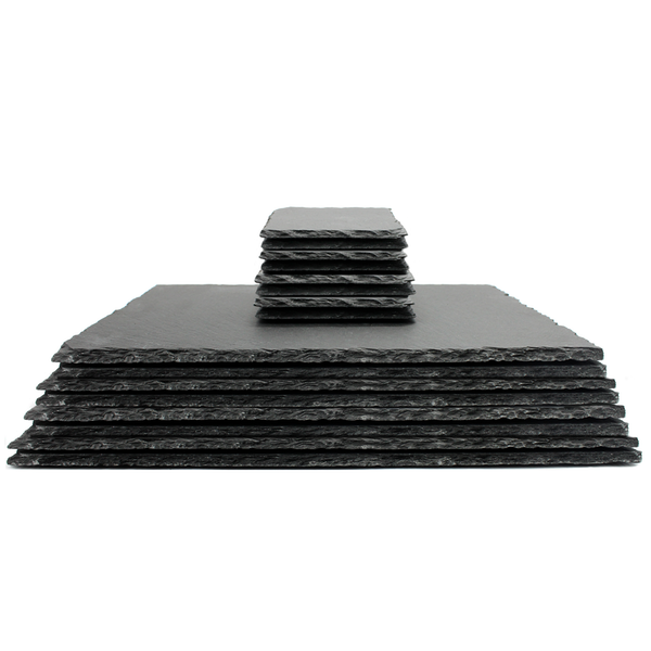 Natural Slate Placemats & Coasters | M&W 16pc - Image 1