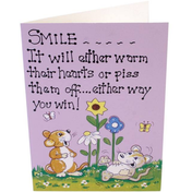 Pack of 6 Smile Smiley Cards
