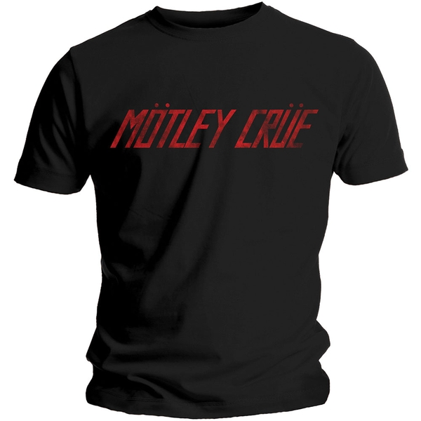 Motley Crue - Distressed Logo Unisex XX-Large T-Shirt - Black