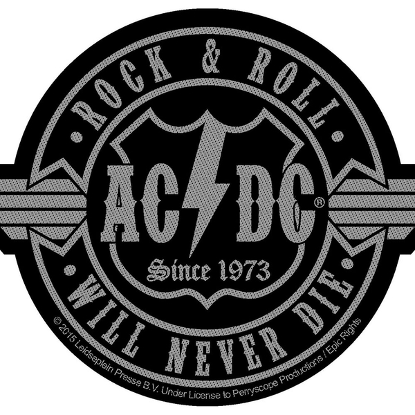 AC/DC - Rock N Roll Will Never Die Cut-Out Standard Patch