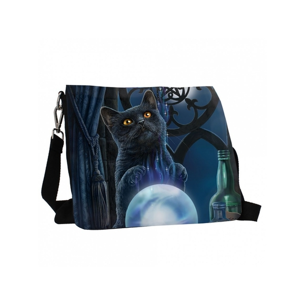 The Witches Apprentice Cat Embossed Shoulder Bag