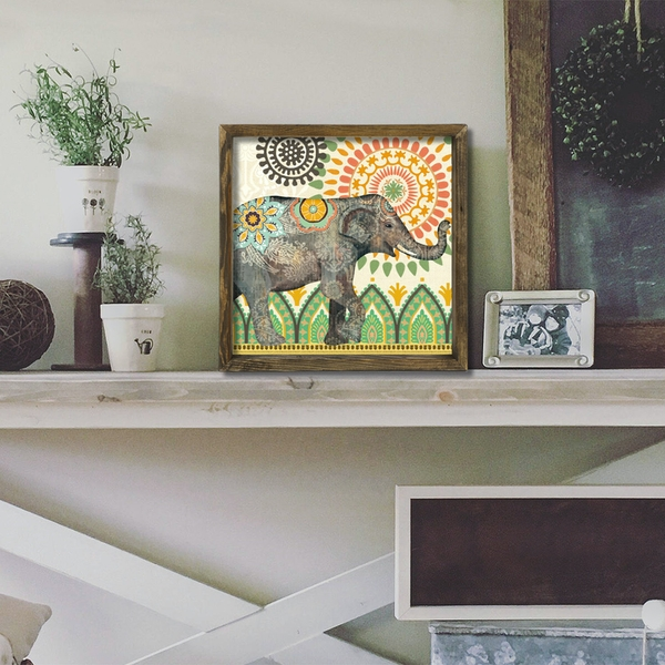 MZM517 Multicolor Decorative Framed MDF Painting