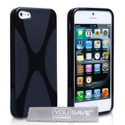 YouSave Accessories iPhone 5 / 5s X-Line Gel Case - Black