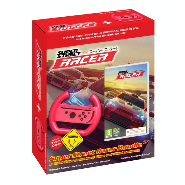 Super Street Racer Bundle + Wheel Accessory Nintendo Switch Game [Code in a Box]