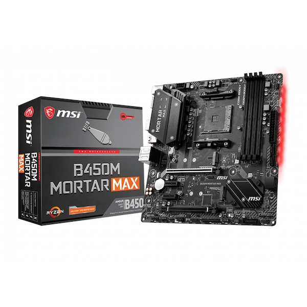 Image of MSI B450M Mortar Max motherboard Socket AM4 Micro ATX AMD B450