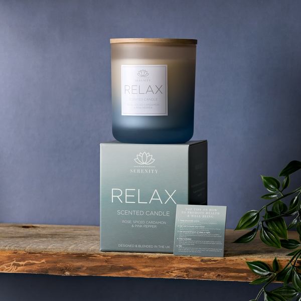 Serenity Relax 270g Candle - Rose, Cardamon & Pink Pepper