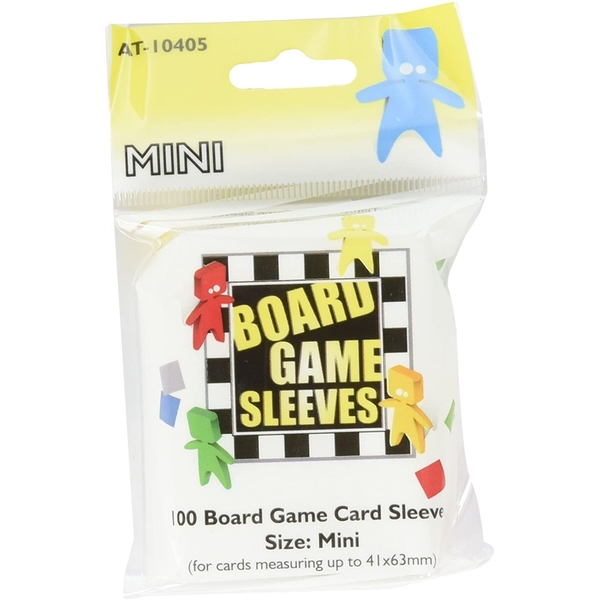 Board Game Sleeves - Mini (fits cards of 41x63mm) - 100 Sleeves