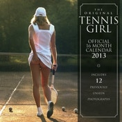 Tennis Girl Square Calendar 2013
