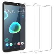 CASEFLEX HTC DESIRE 12 PLUS TEMPERED GLASS (TWIN PACK) - CLEAR