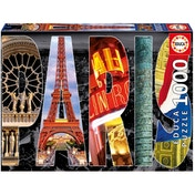 France Paris City Collage 1000 Piece Jigsaw Puzzle