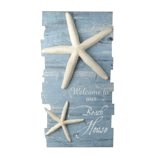 Starfish Wooden Wall Sign By Heaven Sends